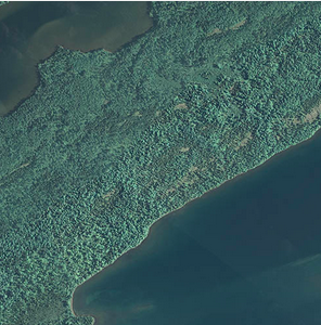 Satellite image of the Great Lakes and surrounding land